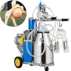 VEVOR 25L Electric Milking Machine Farm Cows WithBucket Double Handles 12 Cows/H