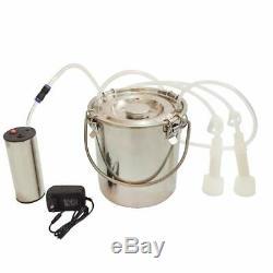 VIC 5L Portable Electric Breast Pump 2PCS Suction Nozzles For Farm Cows Milker