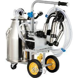 Vevor Electric Milking Machine Milker Machine 25L, Cow Milking Machine 5-8Cows/H