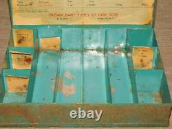 Vintage Crown Dairy Supply Vernon Ny Milking Machine Cleaning Rod Guide Box