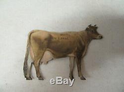 Vintage DeLaval Cow Tin Advertising Sign Cream Separator & Milker