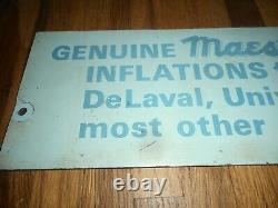 Vintage MAES Farm Dairy Cow Inflations Delaval Milker SURGE Advertising SIGN