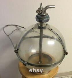 Vtg Metal Glass Chore-boy Milking Machine Globe Bottle Container Dairy Cow Farm