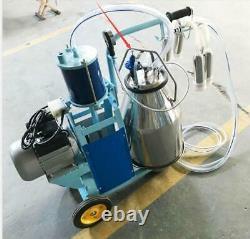 110v Machine Électrique Machine Milker Traire 1440 RPM 10 Vaches / H Double Poignées