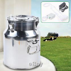 14l Double Upgraded Tête Machine À Vide Impulse Traire Pompe Vache Trayeur
