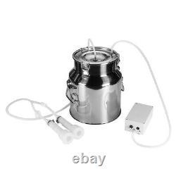 14l Electric Milking Machine Vacuum Pump Bovins Laitiers De Vache En Acier Inoxydable