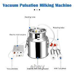 14l Machine De Traite Vaches Chèvre Automatique Pompe À Aspiration Électrique Milker