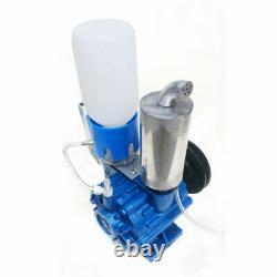 250 L/min Cow Milking Machine Vacuum Pump Bucket Tank Barrel Withbelt Poulie USA