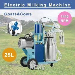 25l Électrique Machine Pour Les Chèvres Traire Les Vaches Withbucket 2 Branchez 12cows / Heure Milker