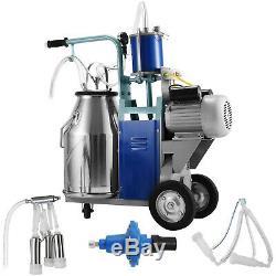 25l Électrique Machine Pour Les Chèvres Traire Les Vaches Withbucket 550w Milker 1440rpm Vide