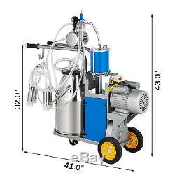 25l Électrique Machine Pour Les Vaches Traire Ferme Withbucket Double Poignées 5-8 Vaches / Heure