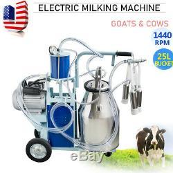 25l Électrique Machine Pour Vaches Traire Ferme Vide Withbucket Automatique Pompe Milker
