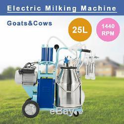 25l Électrique Pour Machine À Traire Les Vaches Et Chèvres Withbucket 12cows / H Bavette À Piston 1440rpm