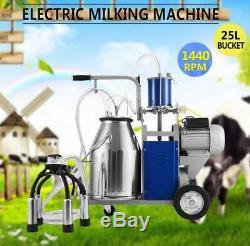 25l Électrique Traire Machine Idéal Pour Les Vaches Équipement Agricole Withbucket Pompe À Vide