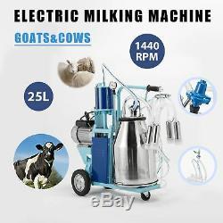 25l Électrique Traire Milker Machine Pour Les Chèvres Vaches En Acier Inoxydable 1440rpm