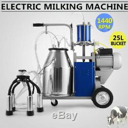 25l Machine À Traire Électrique De Vache À La Ferme 110v 550w 1440rpm / Minute 304 En Acier Inoxydable