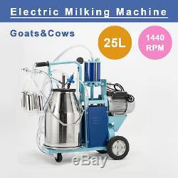 25l Machine À Traire Électrique Pour Vaches De Chèvres Avec Piston 1440rpmvacuum Avec Moutons