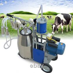 25l Machine De Traite De Laiterie Électrique Pour Les Vaches De Chèvres Avec Seau 2 Plug 12 Vaches/heure
