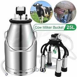 25l Machine De Traite Laitière Vache Laiteuse Professionnelle En Acier Inoxydable Réservoir