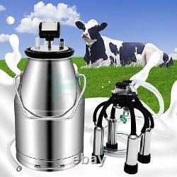 25l Machine De Traite Pour La Vache Laitière Portable Professionnel Pail Acier Inoxydable