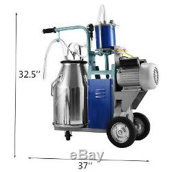25l Machine Électrique Pour Les Vaches Chèvres Traire Withbucket 2 Branchez 12cows / Heure Milker