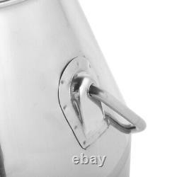 25l Portable Dairy Cow Milker Milking Machine Bucket Tank Barrel Stainlesssteel
