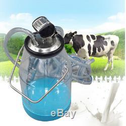 25l Portable Transparent Vache Milker Laitier Machine À Traire Seau Réservoir Baril Nouveau