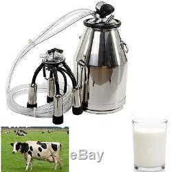 25l Seau De Milker De Vache Portatif Uk Acier Inoxydable 304 De Traite De Réservoir