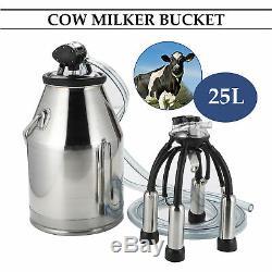 25l Seau Vache Laitière Barrel Réservoir Milker Trayeuse En Acier Inoxydable Récent