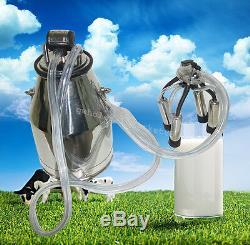 25l Vache Milker Portable Seau Réservoir Traire Barrel + Free Pneumatique Pulsator
