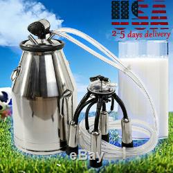 25l Vache Milker Seau 304 Traire En Acier Inoxydable Laitier Réglable Dispositif De Réservoir