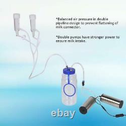2l Goat Sheep Cow Milking Kit Machine De Traite Électrique Portable Avec 2 Pompe