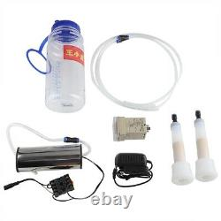 2l Machine De Traite Électrique Vache Moutons Chèvre Milker Impulse Vacuum Pump Bucket