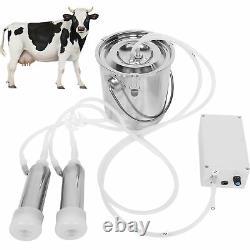 3l Electric Milking Machine Stainless Steel Barrel Farm Cow Sheep Goat Milker