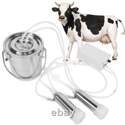 3l Ferme Cow Milking Milker Machine Bucket Tank Container Barrel Us Plug Hot