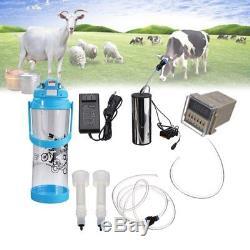 3l Milker Machine À Traire Électrique Ferme Vache Chèvre Double Tête Pompe À Vide Seau