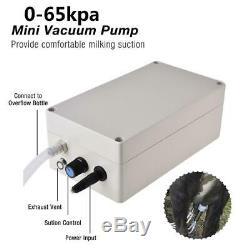 5.5l Vache Électrique Machine Traire Acier Stainles Sein Pompe À Vide D'aspiration Lait