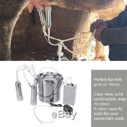 5l Double Tête Ferme Vache Chèvre Machine Traire Mouton Trayeur Pompe À Vide Barils K