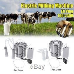 5l Double Tête Ferme Vache Chèvre Machine Traire Mouton Trayeur Pompe À Vide Barils K L