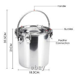 5l Electric Milking Machine Vacuum Impulse Pump Acier Inoxydable Cowithgoat