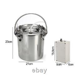 5l Electric Milking Machine Vacuum Impulse Pump Stainless Steel Cow Milker Accueil