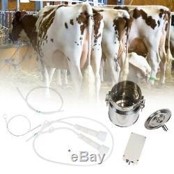 5l Électrique Barrel Pompe À Traire Machine À Vide Portable Pour Vache Chèvre Milker 240v