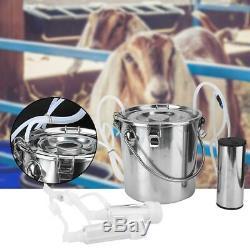5l Électrique Barrel Pompe À Traire Machine À Vide Portable Vache Chèvre Milker Réservoir