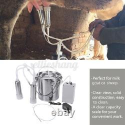 5l Électrique Barrel Traire Machine À Vide Portable Pompe Vache Milker Réservoir