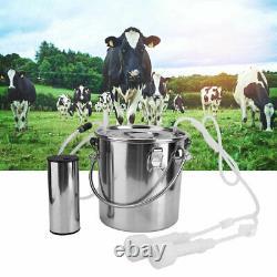 5l Électrique Impulse Mouton Chèvre Vache Trayeur Traire Machine Bucket 100-240