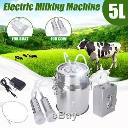 5l Électrique Machine À Vide Traire Impulse Pompe En Acier Inoxydable Vache Chèvre