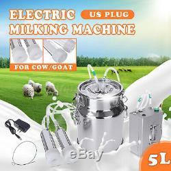 5l Électrique Machine À Vide Traire Impulse Pompe En Acier Inoxydable Vache Chèvre Milker