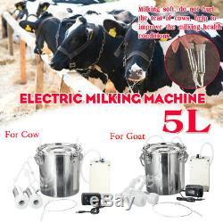 5l Électrique Traire Machine À Double Tête Ferme Vache Chèvre Trayeur Avec Pompe À Vide Une