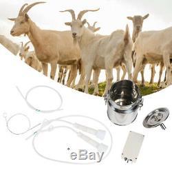 5l Électrique Vide Machine Pompe Traire Chèvres En Acier Inoxydable Vache Milker Accueil