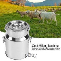 5l Électrique Vide Machine Vache Mouton Traire De Chèvre Avec Le Contrôleur D'impulsion 240v